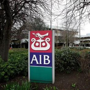 AIB is so broke it no longer has a building to go with this sign.