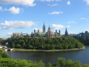"""Yep, that's our national parliament,"" said Mr. Harper proudly. ""Mighty fine."""