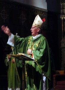 Cardinal Brady denied concealing a small boy under his ceremonial robes.