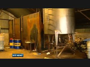 Gardai said the cowshed oil laundering operation was sophisticated and possibly international in scope.