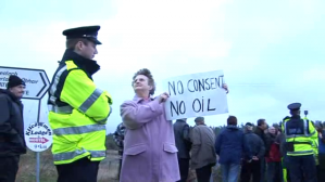 Mrs. Eileen Byrne refuses to hand the oil over without her consent.