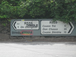 An Daingean is actually the least difficult road sign in Kerry for Irish Americans to pronounce.