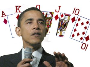 Fans thought Obama was poker's Chosen One, but he failed to live up to the hype.