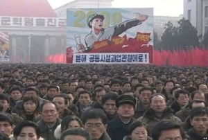 Listless North Koreans gather to find out how much worse it could be, if they were Irish.