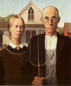 The joy of the Protestant work ethic was captured in Grant Wood's 'American Gothic'.
