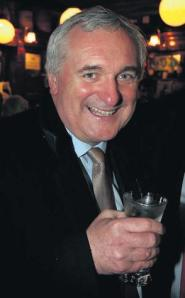 Ahern celebrates his vindication after hearing of the Lehman Brothers' apology.