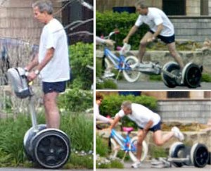 Segway previously tried George W. Bush as a spokesman, but he just kept falling off the damn thing.