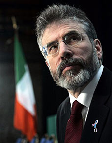 Gerry Adams outlined a new Protestant vision for Ireland in his speech.