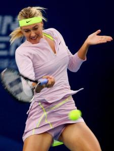 Unfortunately, Sharapova's forehand technique also induces tendonitis in imitators.