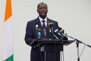 Alassane Ouattara has become a hero to the Irish diaspora, despite repeatedly hanging the flag the wrong way up.