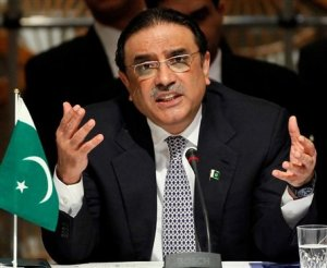President Zardari called on the USA to respect basic human rights by not arming crazies.