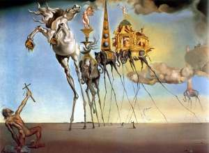 Salvador Dali made heroic efforts throughout his career to depict Fianna Fail-world.
