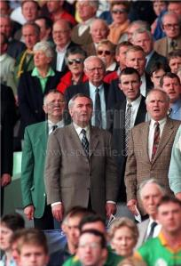 Bertie Ahern leads the people in the national brainwashing before a major GAA game.