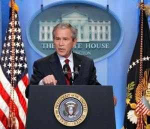 To the fury of American liberals, the Bush Push for Arab democracy is working.