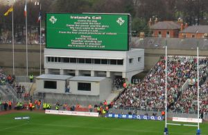 Patriots put the lyrics of Ireland's Call on Croke Park's big screen to break the national brainwashing.