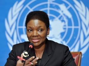 Valerie Amos explains the critical importance of pens to the UN General Assembly.