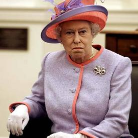 Queen Elizabeth II watches Ireland destroy England's Grand Slam hopes.