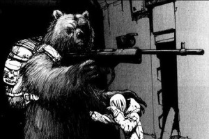 A poster from the Tea Party's 'arm bears' campaign.