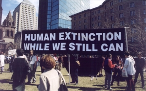 Apocalypticists promoting the peaceful, non-violent end of the human race.