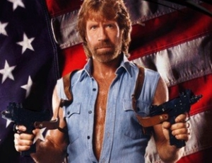 Chuck Norris - the last man standing for American values.