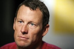 Lance Armstrong confesses under the hypnotic spell of Oprah's boobs.