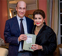 Disgraced Harvard economists Reinhart and Rogoff holding a fake MS Office certificate